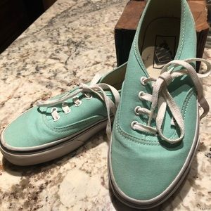 Vans Turquoise green Canvas Shoe Women's Size 6